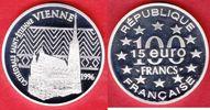 100 Francs / 15 Eurotaler 1996 Frankreich Wien, Stephansdom Polierte Pl... 18,00 EUR  zzgl. 5,00 EUR Versand
