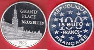 100 Francs / 15 Eurotaler 1996 Frankreich Brüssel, Grand Place Polierte... 18,00 EUR  +  5,00 EUR shipping