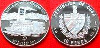 10 Pesos 1998 Kuba Raddampfer auf dem Mississipi, Seefahrt Polierte Pla... 26,00 EUR