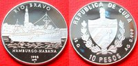 10 Pesos 1998 Kuba Überseedampfer Rio Bravo, Seefahrt Polierte Platte P... 26,00 EUR