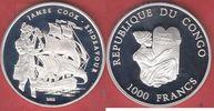 1000 Francs 2003 Kongo James Cook, Endeavour, Seefahrt Polierte Platte ... 26,00 EUR