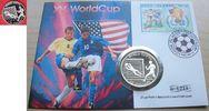 10 Dollar 1992 Cook Islands Fußball WM USA 1994, Torwart fängt Ball, Nu... 17,00 EUR  +  5,00 EUR shipping