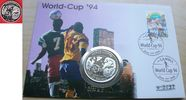 10 Dalasis 1994 Gambia Fußball WM USA 1994, Fußball-Globus, Numisbreif ... 18,00 EUR  zzgl. 5,00 EUR Versand