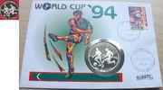 250 Rufiyaa 1993 Malediven Fußball WM USA 1994, Zweikampf, Numisbrief P... 17,00 EUR  zzgl. 5,00 EUR Versand