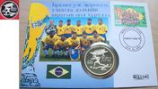 250 Tugrik 1994 Mongolei Fußball WM USA 1994, 2 Spieler vor Pagode, Num... 20,00 EUR  zzgl. 5,00 EUR Versand