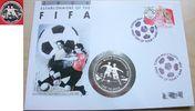 1 Pa´anga 1992 Tonga Fußball WM USA 1994, Zweikampf vor Palmeninsel, Nu... 17,00 EUR  zzgl. 5,00 EUR Versand