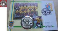 20 Dollar 1994 Tuvalu Fußball WM USA 1994, Ball vor Flaggen, Numisbrief... 19,00 EUR  zzgl. 5,00 EUR Versand