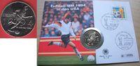 1/2 Dollar 1994 USA Fußball WM 1994, Spieler, Numisbrief Stempelglanz B... 8,00 EUR  zzgl. 5,00 EUR Versand