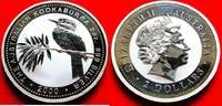 2 Dollars 2000 Australien Kookaburra 2 Unzen Feinsilber, Unzen Stempelg... 60,00 EUR  zzgl. 5,00 EUR Versand