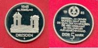 5 Mark 1985 DDR Frauenkirche in Dresden Polierte Platte offen, Proof PP  30,00 EUR  zzgl. 5,00 EUR Versand