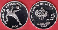 5 Pesos 2004 Argentinien Fallrückzieher - Fußball WM 2006 Deutschland P... 17,00 EUR  zzgl. 5,00 EUR Versand