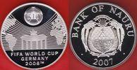 10 Dollars 2007 Nauru Brandenburger Tor - Fußball WM 2006 Deutschland P... 23,00 EUR  zzgl. 5,00 EUR Versand