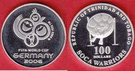100 Dollars 2006 Trinidad Emblem/ Tromller - Fußball WM 2006 Deutschlan... 23,00 EUR  zzgl. 5,00 EUR Versand