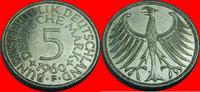 5 DM 1960 F BRD (23/JAUL) BRD 5 DM J. 387 Adler 1960 F sehr schön bis v... 8,00 EUR  zzgl. 5,00 EUR Versand