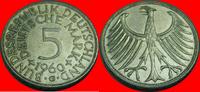 5 DM 1960 G BRD (24/JAUL) BRD 5 DM J. 387 Adler 1960 G sehr schön  7,00 EUR  zzgl. 5,00 EUR Versand
