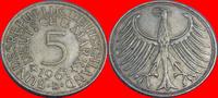 5 DM 1961 D BRD (26/JAUL) BRD 5 DM J. 387 Adler 1961 D sehr schön, Pati... 9,00 EUR  zzgl. 5,00 EUR Versand