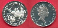 Cook Islands 50 Dollars 1991 Polierte Plat...