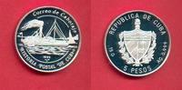 5 Pesos 1993 Kuba Raddampfer Almendares, Seefahrt Polierte Platte Proof... 14,50 EUR