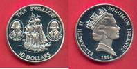10 Dollar 1994 Salomon Inseln The Swallow, Seefahrt Polierte Platte Pro... 24,00 EUR