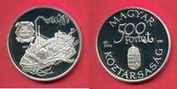 500 Forint 1994 Ungarn Carolina, Seefahrt Polierte Platte Proof PP  21,00 EUR