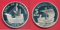 5 Ecus 1996 Spanien Kastilianische Kogge, Seefahrt Polierte Platte Proo... 21,00 EUR