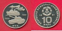 10 Mark 1981 DDR 25 Jahre NVA in Kapsel Polierte Platte offen, Proof PP  29,00 EUR  zzgl. 5,00 EUR Versand