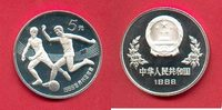 China 5 Yuan 1986 Polierte Platte , Proof PP Fussball WM 1986 Mexiko - Z... 39,00 EUR