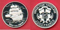 1000 Francs 2001 Togo Adler von Lübeck, Seefahrt Polierte Platte Proof ... 24,00 EUR  zzgl. 5,00 EUR Versand