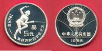 5 Yuan 1988 China Olympiade Seoul, Fechten Polierte Platte Proof PP  25,00 EUR
