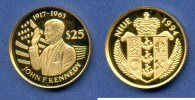 Niue 25 Dollar John F. Kennedy Gold