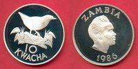 10 Kwacha 1986 Sambia Spiegelralle - Vogel, Tierwelt, WWF, Endangered W... 19,00 EUR  zzgl. 5,00 EUR Versand