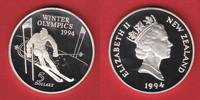 5 Dollar 1994 Neuseeland Slalom - Olympiade Lillehammer Polierte Platte... 15,00 EUR