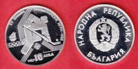 10 Lewa 1987 Bulgarien Eishockey - Olympiade 1988 Calgary Polierte Plat... 6,00 EUR