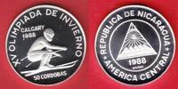 50 Cordobas 1988 Nicaragua Abfahrtslauf - Olympiade 1988 Calgary Polier... 9,20 EUR  zzgl. 5,00 EUR Versand