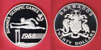 20 Dollar 1988 Barbados Hürdenlauf - Olympiade 1988 Seoul Polierte Plat... 13,00 EUR