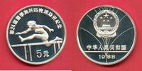 5 Yuan 1988 China Olympiade Seoul, Hürdenlauf Polierte Platte Proof PP  25,00 EUR