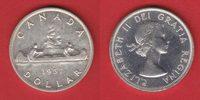 1 Dollar 1957 Kanada Elisabeth, Kanu vorzüglich-Stempelglanz  16,00 EUR  zzgl. 5,00 EUR Versand