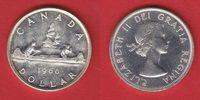 1 Dollar 1960 Kanada Elisabeth, Kanu vorzüglich-Stempelglanz  15,00 EUR  +  5,00 EUR shipping