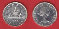 1 Dollar 1961 Kanada Elisabeth, Kanu bankfrisch, unc.  16,00 EUR  zzgl. 5,00 EUR Versand
