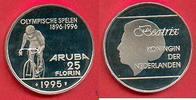 25 Florin 1995 Aruba Olympiade 1996 Atlanta,  Radfahrer ohne Logo des I... 25,00 EUR  zzgl. 5,00 EUR Versand