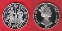 10 Dollars 1989 Cook Islands Olympiade 1992 Barcelona, Biathlon-Maratho... 17,20 EUR  zzgl. 5,00 EUR Versand