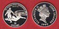 50 Dollar 1990 Cook Islands Zweikampf und Stadion - Fußball WM 1990 Ita... 16,00 EUR  zzgl. 5,00 EUR Versand