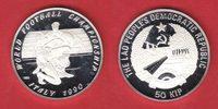 50 Kip 1990 Laos Foulspiel - Fussball WM 1990 Italien Polierte Platte, ... 17,00 EUR