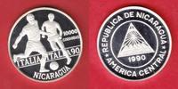 10000 Cordobas 1990 Nicaragua Steilpaß - Fussball WM 1990 Italien Polie... 25,00 EUR