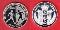 50 Dollar 1990 Niue Spieler / Spiegelbild - Fussball WM 1990 Italien Po... 24,00 EUR  zzgl. 5,00 EUR Versand
