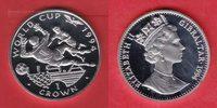 1 Crown 1994 Gibraltar Fußball WM USA 1994, Torwart wehrt Ball ab Polie... 15,00 EUR  zzgl. 5,00 EUR Versand