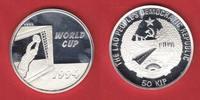 50 Kip 1991 Laos Fußball WM USA 1994, Television Polierte Platte Proof ... 20,00 EUR  zzgl. 5,00 EUR Versand