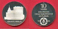 10 Mark 1986 DDR Charite Berlin Silber Polierte Platte offen, Proof PP  54,00 EUR  zzgl. 5,00 EUR Versand