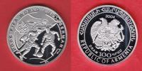 100 Dram 2004 Armenien World Soccer Games 2006 Polierte Platte Proof PP  23,00 EUR  +  5,00 EUR shipping