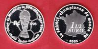 1,5 Euro 2005 Frankreich World Soccer Games 2006 Polierte Platte Proof PP  20,20 EUR  +  5,00 EUR shipping